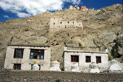 Leh Mountain Houses Stock Images