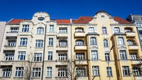 Traditional Residential block of apartments in Berlin suburbs Germany stock images