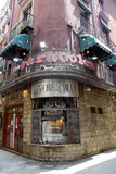 Traditional restaurant Los Caracoles in Gothic Quarter. Royalty Free Stock Image