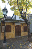 Traditional restaurant in the old, famous bohemian quarter Skadarlija in Belgrade Royalty Free Stock Images