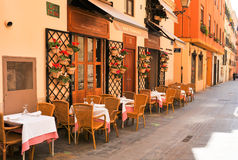 Traditional restaurant in Spain Royalty Free Stock Photography