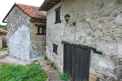Traditional, retro wine cellars in village of Rajac. Rajac wine cellars, a village with traditional wine cellars. Houses in the village were built by peasants Stock Images