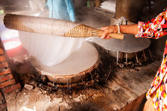 Traditional Rice Paper Making Stock Photos