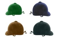 Traditional riding hats. Used in dressage and jumping Stock Photo