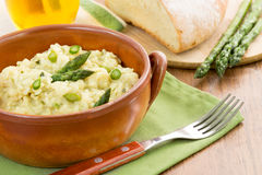 Traditional risotto with asparagus Stock Images