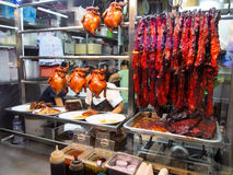 Traditional roast duck, food court, Singapore Stock Images