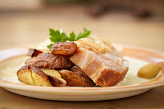 Traditional roast pork Royalty Free Stock Images
