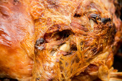 Traditional roasted in a furnace lamb for St. George`s  day in Bulgaria Stock Images