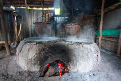 Traditional rock salt making. The way how to traditional people in northen of Thailand making rock salt Royalty Free Stock Photo