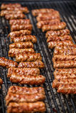 Traditional romanian barbecue Royalty Free Stock Images