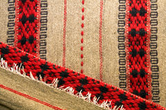 Traditional Romanian blankets. Romanian wool blankets with traditional pattern. Made with the hand loom Royalty Free Stock Images