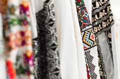 Traditional Romanian blouse Stock Photo