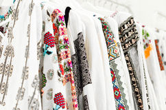 Traditional Romanian blouse Stock Photography
