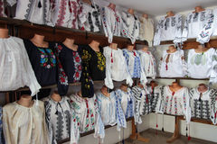 Traditional Romanian Blouses Stock Image