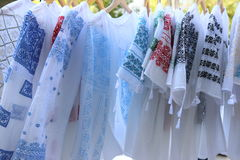 Traditional romanian blouses ie Stock Photos