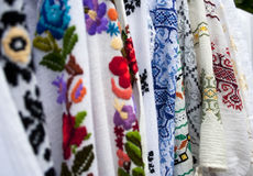 Traditional Romanian blouses Stock Photo