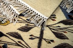 Traditional romanian carpets Royalty Free Stock Image