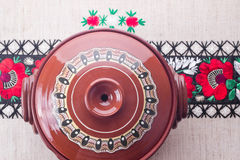 Traditional Romanian ceramic pot Royalty Free Stock Images