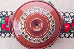 Traditional Romanian ceramic pot Royalty Free Stock Image