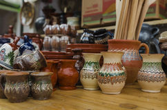Traditional Romanian ceramics Stock Photography