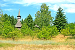 Traditional Romanian church- Maramures region Royalty Free Stock Image