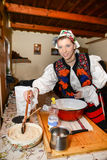 Traditional romanian clothing Stock Images