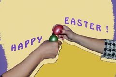 Traditional Romanian custom on Easter holidays vector illustration