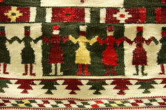 Traditional romanian dance, as a texture Royalty Free Stock Images
