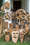 Traditional Romanian decorative wooden carved Royalty Free Stock Photography