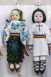 Traditional Romanian dolls. Dressed in the national costume Stock Image