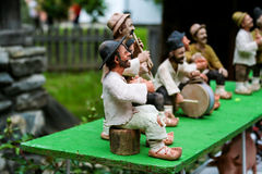 Traditional Romanian Dolls Muromets as exposed to Traditional Romanian Products in Romanian Village Museum Nicolae Gusti. On special events. As I remeber the Royalty Free Stock Photo