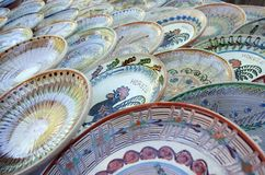 Traditional Romanian earthenware pottery Royalty Free Stock Image