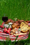 Traditional romanian Easter cooking Stock Photos