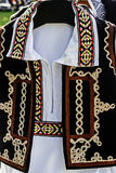 Traditional Romanian folk costume.Detail 36 Royalty Free Stock Images