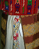 Traditional Romanian folk costume.Detail 3 Stock Photography