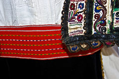 Traditional Romanian folk costume.Detail 6 Stock Photography