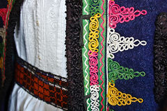 Traditional Romanian folk costume.Detail 24 Stock Photography