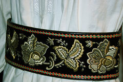 Traditional Romanian folk costume.Detail 11 Royalty Free Stock Image