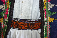 Traditional Romanian folk costume.Detail 16 Stock Photos