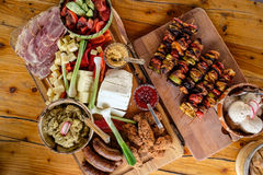 Traditional Romanian food plate. In southern Romania royalty free stock images