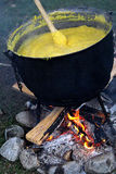 Traditional Romanian food, polenta Stock Photos