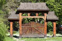 Traditional romanian gate Stock Photo