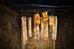 Traditional romanian ham Stock Photo