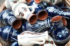 Traditional romanian handcrafted pottery Stock Image