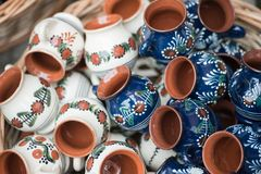 Traditional romanian handcrafted pottery Royalty Free Stock Photo