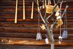 Traditional romanian handmade objects Stock Photos