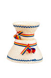 Traditional Romanian hats made of straws, specific for the northern part of the country- Maramures Royalty Free Stock Photography