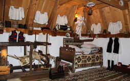 Traditional Romanian House Interior Stock Photography