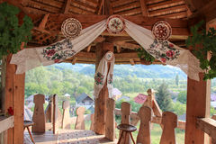 Traditional Romanian House Porch Royalty Free Stock Photo