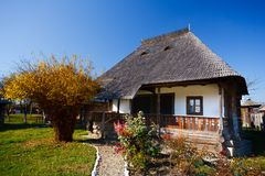 Traditional Romanian house - see the whole series Stock Photos